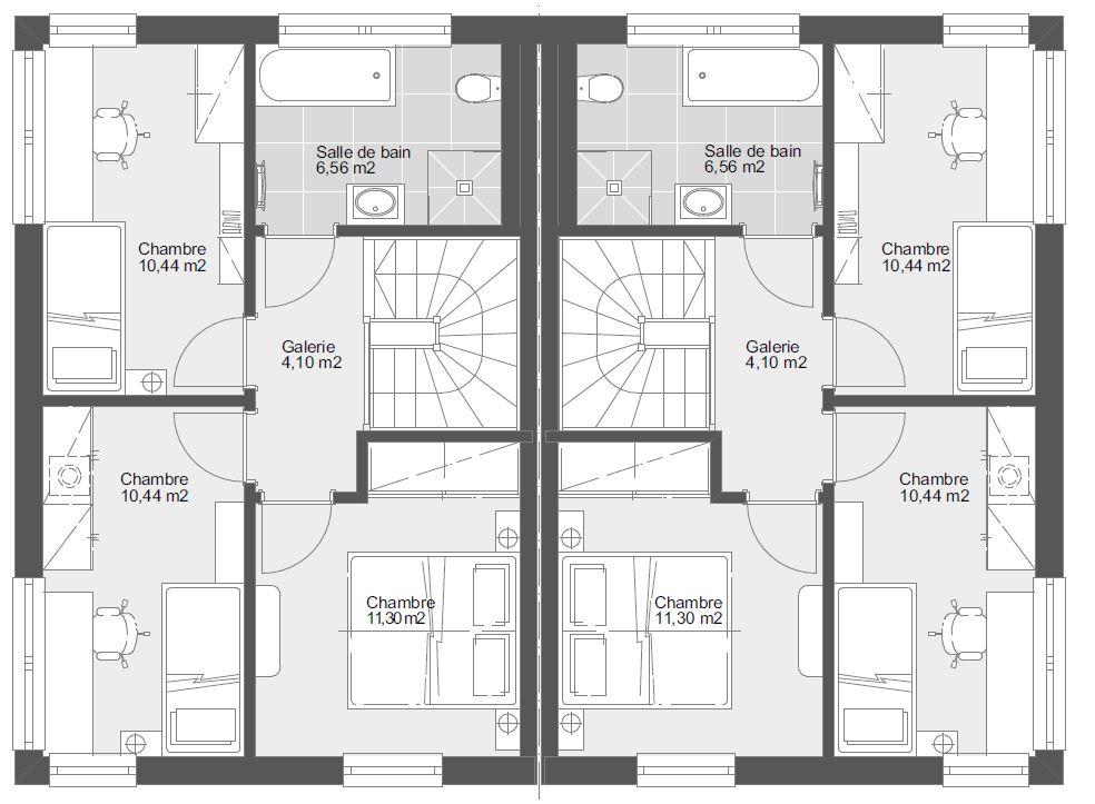 DH 93 Etage toit plat