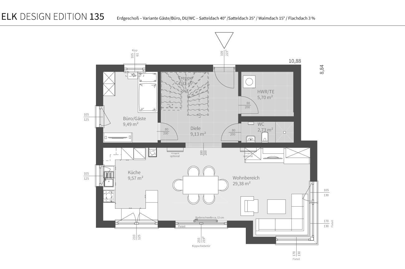 grundriss-elk-fertighaus-elk-design-edition-135-EG-Var-Gast-DU-WC